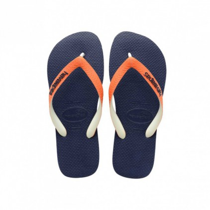 Tong Havaianas homme top mix marine et orange